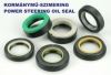Power steering oil seal 8x16x7